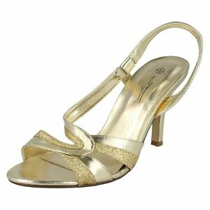 Metallic F1r0158 Shoes Gold Slingbacks Ladies Anne Michelle r2a 7Oqwtt