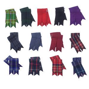 Scottish Kilt Sock Flashes Hunting Stewart Tartan//Highland Kilt Hose flashes