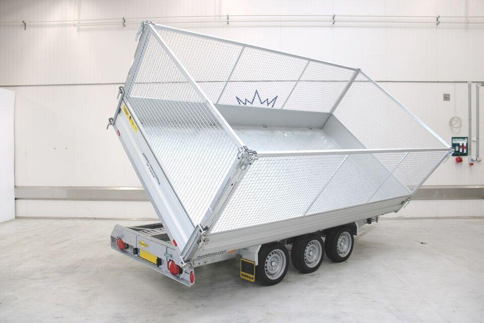 Trailer Humbaur HTK 3500.41 3-vejs - El-tip/ Gitter...,