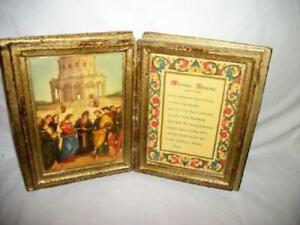 Italian-Florentine-Gilt-Wood-Diptych-Marriage-Blessing-Prayer-Book-Mid-Century