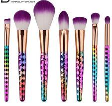 7  pcs Unicorn Brush set Make Up Foundation  Blush Eyeshadow Contour LipSet 🦄