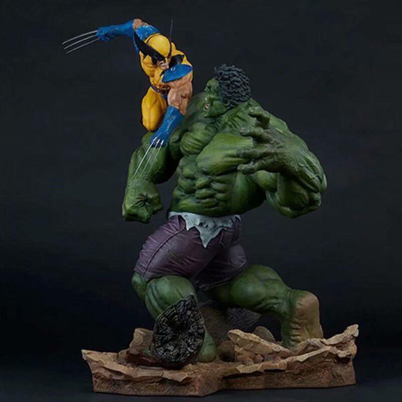 Marvel Hulk Vs Wolverine 14  Estatua Pvc Figura Coleccionable Juguetes en Caja en existencias