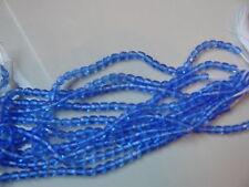 Lot de 50 perles à facettes 4mm bleu