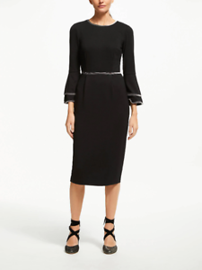 Boden Women/'s Petite Cora Jersey Dress Black US 6 Petite