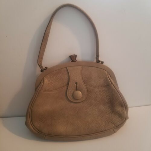 Vintage Roger Van S. Handbag Tan Leather Purse