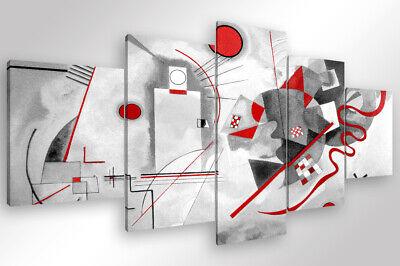 Quadro Moderno 4 pz KANDINSKY MODERN cm 170x70 stampa su tela canvas arredo