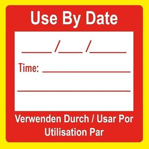 Use By Date Food - Kitchen Canteen Stickers - Labels - Food Hygiene Preparation
