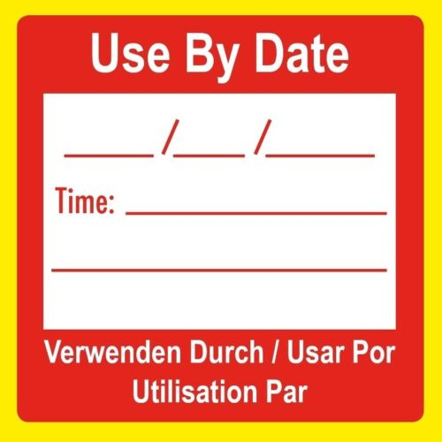 Food Hygiene Preparation Use By Date Food Kitchen Canteen Stickers Labels