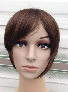 medium chestnut brown clip in on fake fringe bangs hair extension hair piece new - Slough, United Kingdom - Return in 7 days, unused Most purchases from business sellers are protected by the Consumer Contract Regulations 2013 which give you the right to cancel the purchase within 14 days after the day you receive the item. Find out more - Slough, United Kingdom