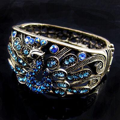 Cute Full Crystal peafowl Exquisite Peacock Animal Bracelet free