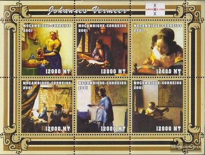 Never Hinged 2001 Art Topical Stamps Mosambik 2121-2126 Sheetlet Unmounted Mint Stamps