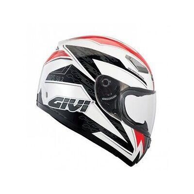 Givi casco integrale bianco rosso taglia XL 61 givi 50.2  outlet moto scooter