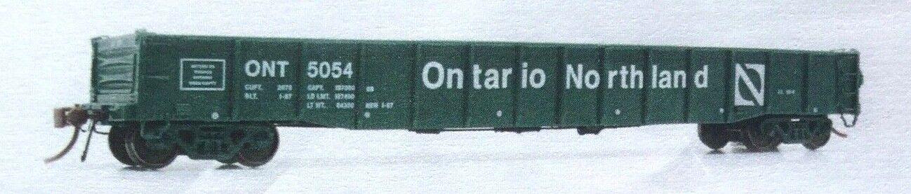 RAPIDO 1 87 HO GREEN ONTARIO NORTHLAND 52.6' MILL GONDOLA CAR NIB 50040