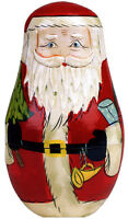 Santa Nesting Doll - Box Of 10 Christmas Cards By Paper House Productions