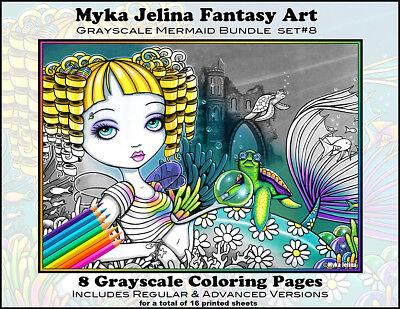Fairy Art Adult Coloring Fantasy Steampunk Rockabilly Myka Trading Card Set 3