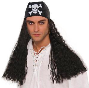 Halloween Pirate wig with bandana