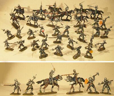 Late Medieval Knights Miniart - Medievali Cavalieri 34 Soldatini Dipinti 1:72