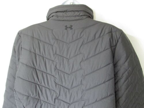 size XL UNDER ARMOUR ColdGear Reactor Puffer Insulated Jacket Womens Charcoal