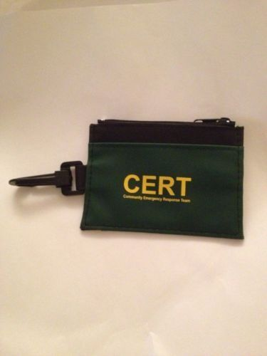 CERT Community Emergency Response Team Credential Holder ID Holder