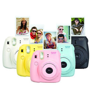 Fujifilm Instax Mini 8+ Fuji Instant Camera with Film Cheki ...