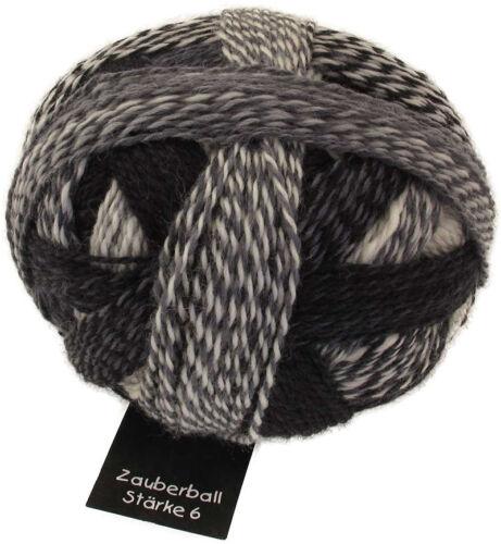 "Schoppel Zauberball Stärke 6 Farbe 2100 /""Domino/""  150g Sockenwolle"