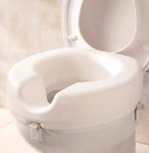 """Raised Toilet Seat 5"""" Elevated Toileting Mobility Disability Elderly ..."""