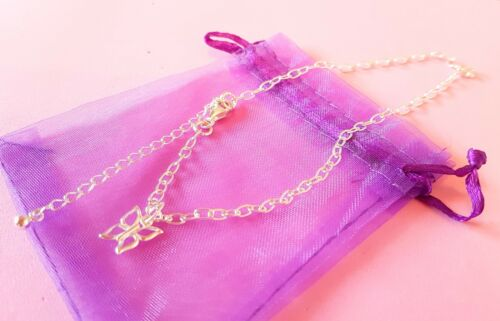 anklet ankle bracelet chain 925 sterling silver with charm om ohm heart star