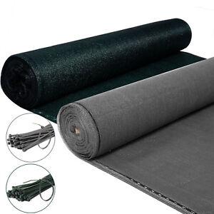 Zaunblende-Sichtschutz-Tennisblende-Schattiergewebe-Windschutz-mit-Kabelbinder