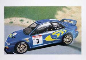 Colin-McRae-Subaru-Impreza-Motor-Sport-Rally-Artists-Print-Poster-New