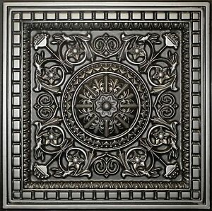 Image Is Loading Antique Silver D215 Pvc Ceiling Tiles Tin Look