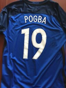 buy popular ddac0 6ff5c Details about France Paul Pogba Autographed Signed Nike Jersey COA XL BNWT