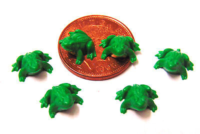 1:12 Scale 6 Plastic Frogs Tumdee Dolls House Garden Pet Fairy Pond Accessory
