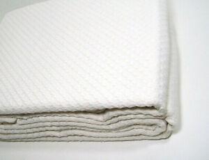 Royal Velvet Ring Spun Textured Weave Creamy Off White King Cotton