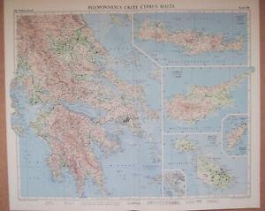 Carte Chypre Crete.Details Sur Grece Crete Chypre 1 1 000 000 Malte Gozo 1 250 000 Couleurs 1956 Carte Afficher Le Titre D Origine