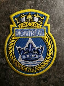 HMCS-Montreal-Royal-Canadian-Navy-Ship-039-s-Crest-Patch-Authentic