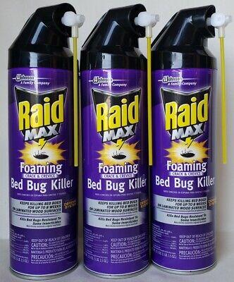 3 Raid Max Foaming Crack Crevice Bed Bug Killer 17 5 Oz New Can Sprays 46500001666 Ebay