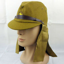 bc7093ed896 WWII Japanese Army Soldier Cap Hat With Neck Flaps Size L-a20220
