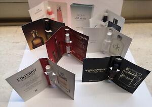 8 x Parfum Phiolen Givenchy,Chanel,CK,D&G  u. a. alle noch Voll (Vintage)