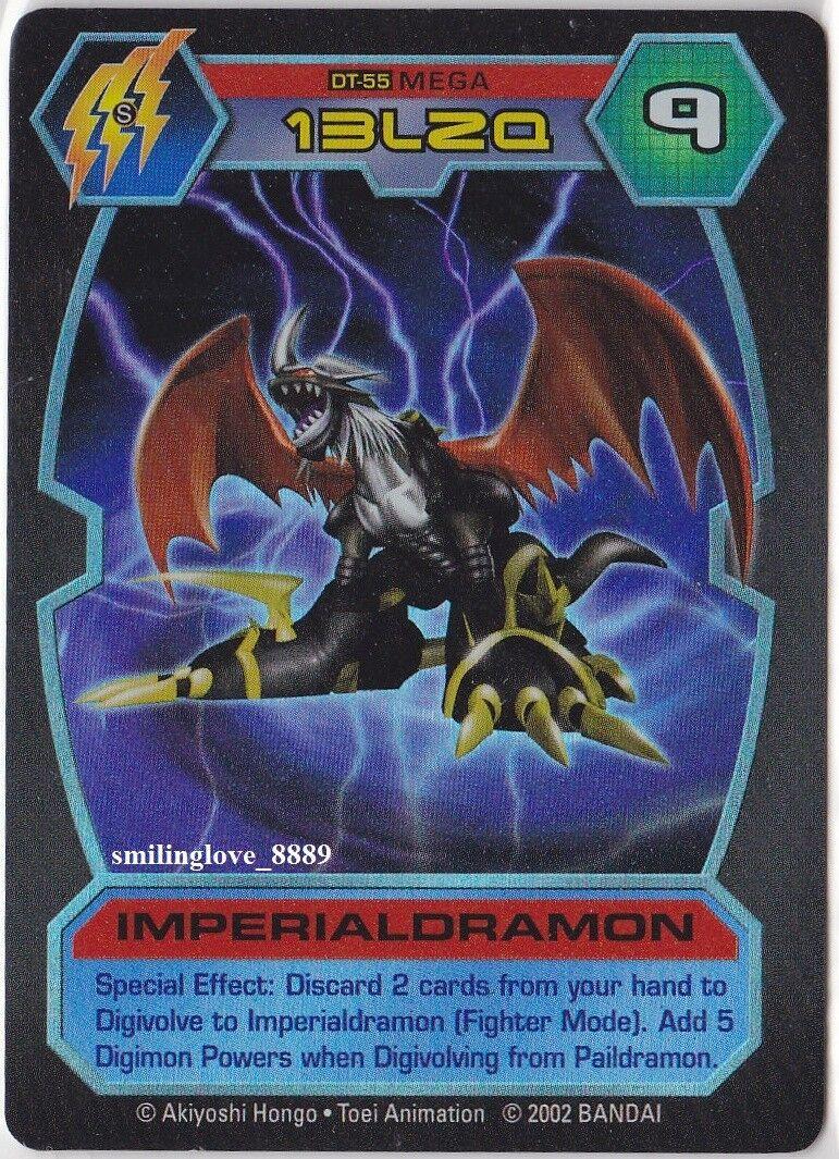 TOEI D -TECTOR HOLO FOIL RARE bilD - DT -55 kejserligDRAMON Mega Level Digimon Mint