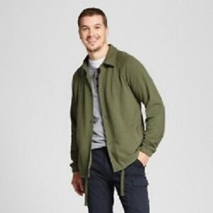 Goodfellow-amp-Co-Men-039-s-French-Terry-Jacket-drawstring-waist-Blue-or-Olive-L-XL