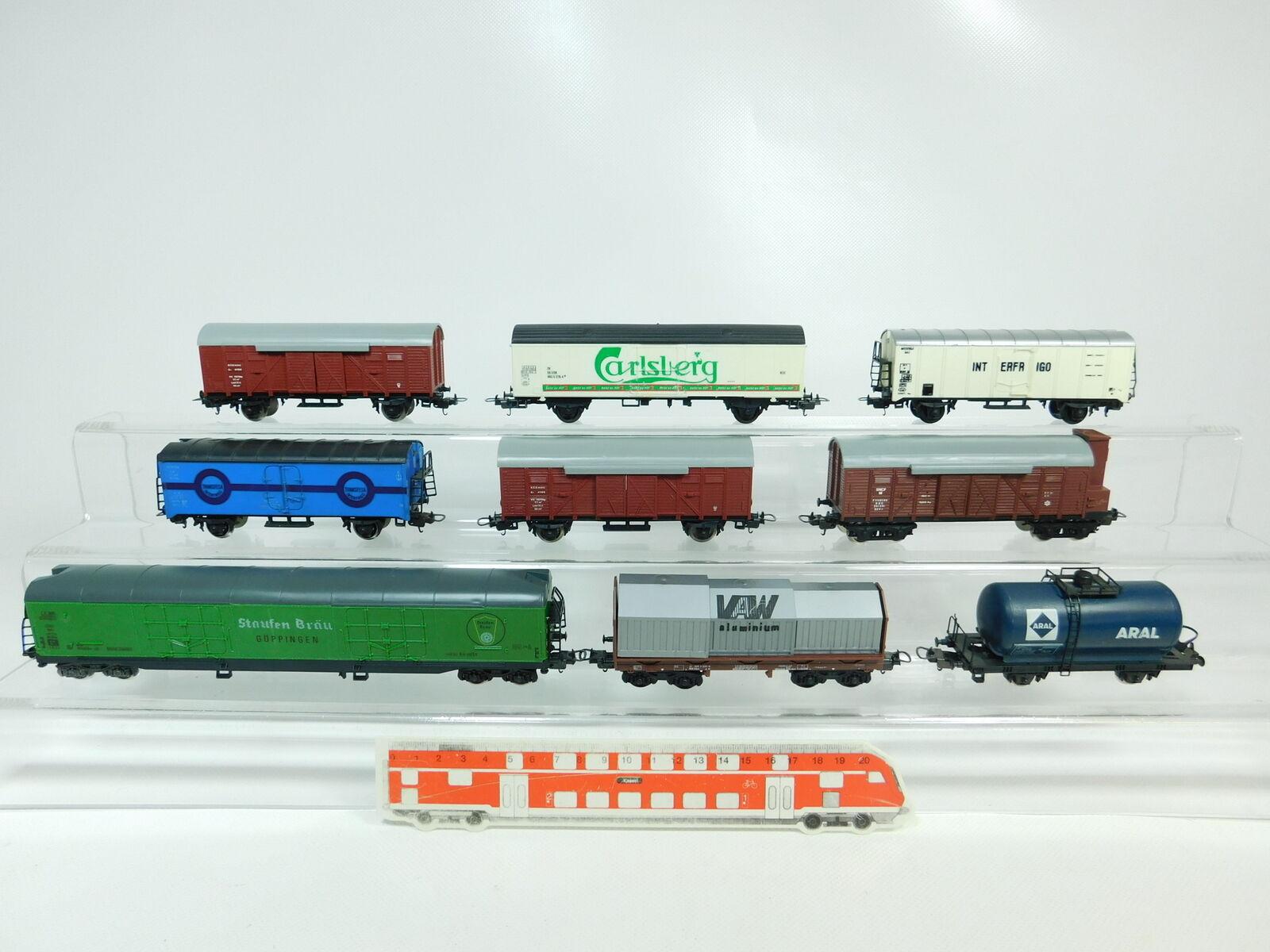 BP760-2x Lima H0 DC Güterwagen  DB + NSB +Carlsberg DSB + Renfe etc, gut s.g.