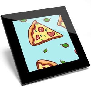 1 X Cool Funky Pizza Tranches Verre Coaster-cuisine étudiant Qualité Cadeau #8381-afficher Le Titre D'origine