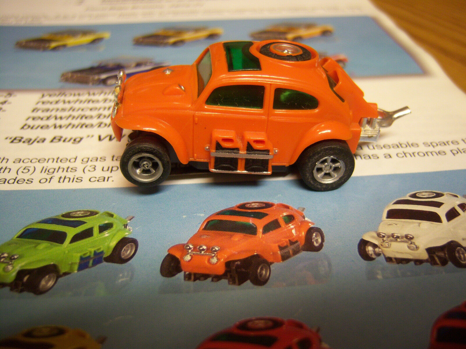 AFX collectionneurs L @ @ K RARE & HARD TO FIND Orange Foncé VW Baja Bug Model Motoring