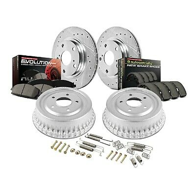 Power Stop Front /& Rear K15223DK Performance Pad Rotor Drum and Shoe Kits