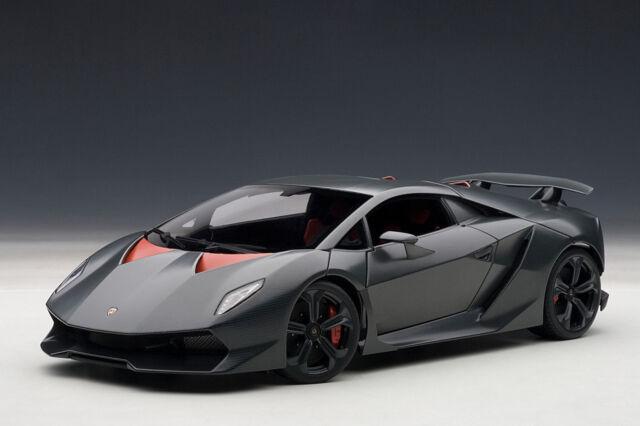 Autoart 1 18 Lamborghini Sesto Element Carbon Gray 74671 For Sale