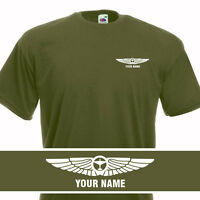 Aeroclassic Personalised Pilots Wings Flight T-Shirt