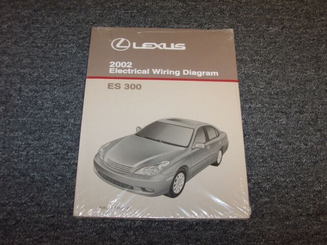 2002 Lexus Es300 Sedan Factory Original Electrical Wiring Diagram Manual 3 0l V6
