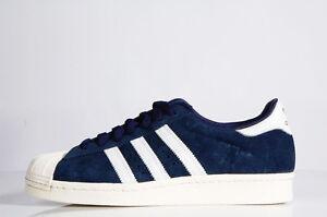 Adidas Superstar 80s Dlx Navy Vintage White Gold Scarpa Da Ginnastica Blu