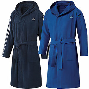 adidas performance bathrobe herren bademantel saunamantel morgenmantel ebay. Black Bedroom Furniture Sets. Home Design Ideas