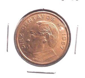 CIRCULATED 1959 10 CENTAVO  MEXICAN COIN